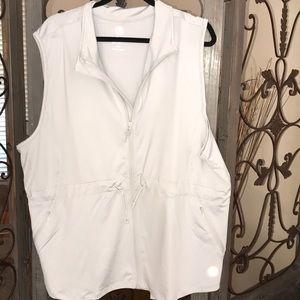 Jackets & Blazers - Plus size 30/32 gray vest with zipper. NWOT
